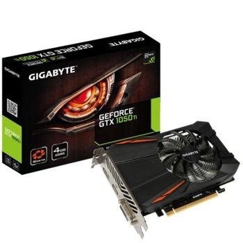 Видео карта Nvidia GeForce GTX 1050 Ti, 4GB, Gigabyte D5 4G (rev1.1), PCI-E 3.0, GDDR5, 128-bit, 1x DVI-D, 1x HDMI, 1x DisplayPort image