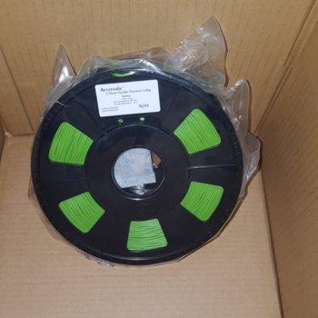 Консуматив за 3D принтер Acccreate, PLA, 1.75mm, Glow Green (неоново зелен), 1kg image