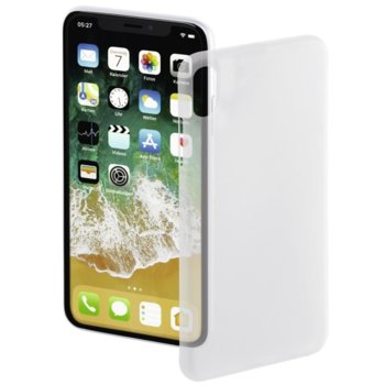 Калъф за Apple iPhone X, пластмаса, Hama Ultra Slim, бял image