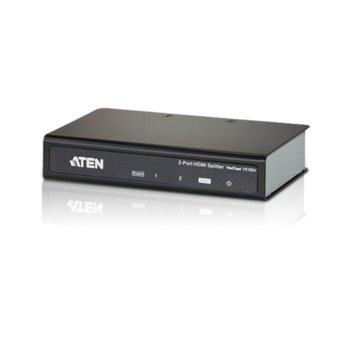HDMI сплитер ATEN VS182A, от 1x HDMI(ж) към 2x HDMI(ж), до 15м, до Ultra HD резолюция, 3D поддръжка, 1 устройство image