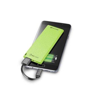 Външна батерия/power bank, Cellular Line FREEPOWER SLIM 3000 UNIVERSALE, 3000mAh, зелена, microUSB Type B, USB A image