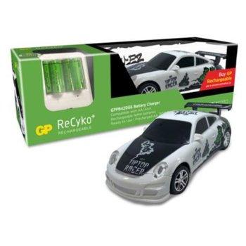 Зарядно устройство GP batteries GPPB420, с 4 гнезда АА/ААА + 6 x АА 2100 mAh батерии и подарък кола с дистанционно управление image