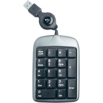 Клавиатура Keypad A4Tech TK-5, разгъваем кабел, USB image