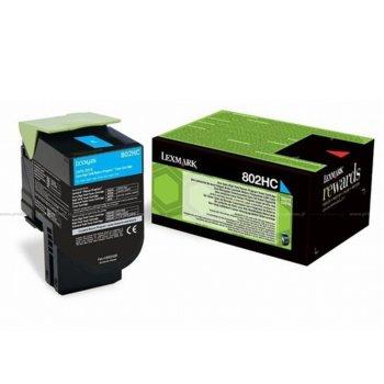 Касета за Lexmark CX410de/CX410e/CX410dte/CX510dhe/CX510de/CX510dthe - Cyan - P№ 80C2HCE - 3 000K image