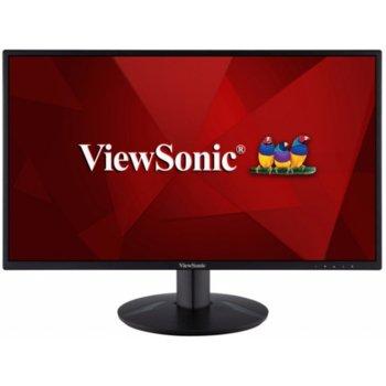 """Монитор ViewSonic VA2418-SH, 23.8"""" (60.45 cm) IPS панел, 75Hz, Full HD, 5ms, 50000000:1, 250 cd/m2, HDMI, VGA image"""