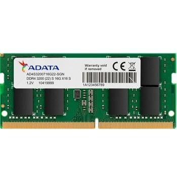 Памет 16GB DDR4 3200MHz, SO-DIMM, Adata AD4S3200716G22-SGN, 1.2V image