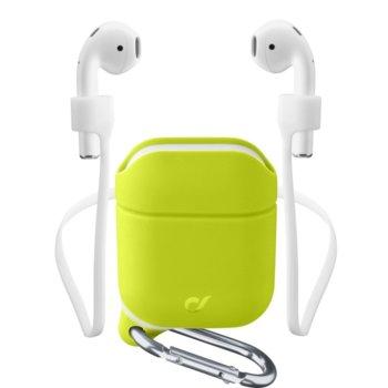 Калъф за слушалки Apple AirPods, Cellular Line Sprint, силиконов, зелен image