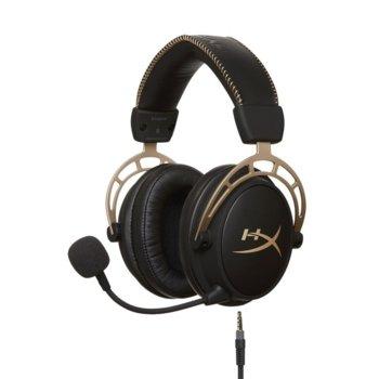 Слушалки HyperX Cloud Alpha Gold Limited, микрофон, гейминг, черен image