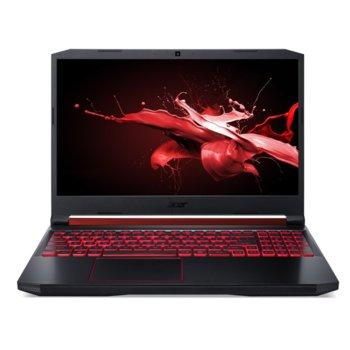 "Лаптоп Acer Nitro 5 AN515-54-5198 (NH.Q59EX.03N), четириядрен Coffee Lake Intel Core i5-9300H 2.4/4.1 GHz, 15.6"" (39.62 cm) Full HD IPS Anti-Glare Display & GTX 1650 4GB, (HDMI), 8GB DDR4, 512GB SSD, 1x USB Type-C, No OS image"