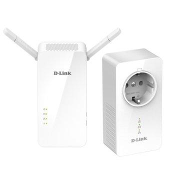 Powerline адаптер D-Link DHP-W611AV, 1000Mbps, 1x Lan1000, 2 устройства image