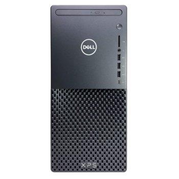 Настолен компютър Dell XPS 8940 DT (DIAVEL_CMLS_2101_7300_P), осемядрен Rocket Lake Intel Core i7-11700 2.5/4.9 GHz, NVIDIA GeForce RTX 3060 Ti 8GB, 16GB DDR4, 512GB SSD & 1TB HDD, 7x USB 3.1 Gen 1, Windows 10 Pro image