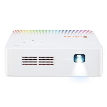 Проектор Acer AOPEN PV10, DLP, WVGA (854 x 480), 5 000:1, 300 lm, HDMI, USB, Audio, Wi-Fi image