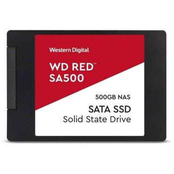"""Памет SSD 500GB Western Digital Red, SATA 6Gb/s, 2.5""""(6.35 cm), скорост на четене 560MB/s, скорост на запис 530MB/s, черно image"""