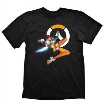 Тениска Gaya Entertainment Overwatch Tracer, размер XL, черна image