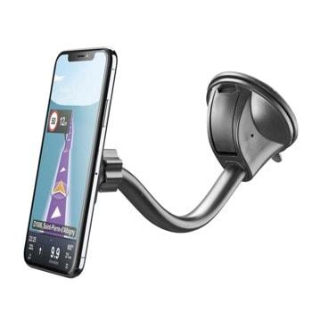 Стойка за телефон Cellularline Touch Flexi, за кола, универсална, магнитна, въртене на 360°, черна image