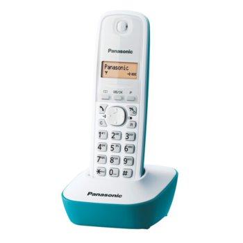 Безжичен телефон Panasonic KX-TG1611,течнокристален черно-бял дисплей, син image