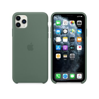 Kалъф за Apple iPhone 11 Pro Max, Apple Silicone Case (Seasonal Autumn 2019), силиконов, зелен image
