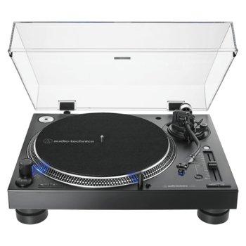 DJ грамофон Audio-Technica AT-LP140XP, ръчно управление, директно задвижване от мотора, регулируем динамичен анти-скейт контрол, 33/45/78 оборота в минута, 2x RCA, черен image