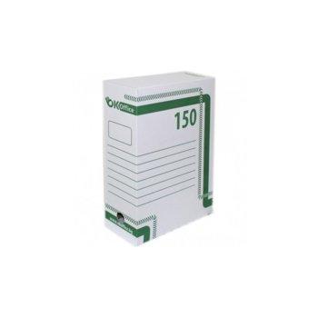 Архивна кутия за документи, 350х250х150 mm, бяла image