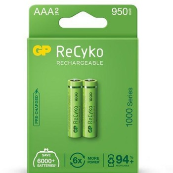 Акумулаторна Батерия GP, R03, AAA, R03, 1.20V, NiMH, 2 бр image