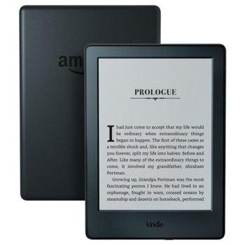 """Електронна книга Amazon eBook Kindle 6""""(15.24 cm) E-Ink Carta мултисензорен дисплей, 512MB, 4 GB Flash памет, Wi-Fi, microUSB, черна image"""