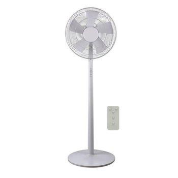 Настолен вентилатор Finlux FSF-1666RC, 3 скорости, 40 см. диаметър, дистанционно управление, 55 W, бял image
