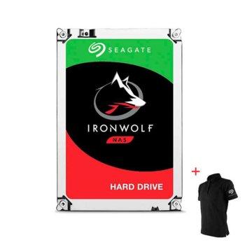 """Два твърди диска 8TB Seagate IronWolf NAS с подарък тениска Seagate, SATA 6Gb/s, 7200 rpm, 3.5""""(8.89 cm) image"""