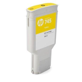 Мастило ЗА HP DesignJet Z2600, Z5600 - Yellow - 745 - P№ F9K02A - заб.: 300ml image