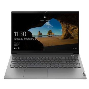 "Лаптоп Lenovo ThinkBook 15 G2 ITL (20VE0051RM)(сив), четириядрен Tiger Lake Intel Core i5-1135G7 2.4/4.2 GHz, 15.6"" (39.62 cm) Full HD IPS Anti-Glare Display, (HDMI), 8GB DD4, 512GB SSD, 1x Thunderbolt 4, No OS image"