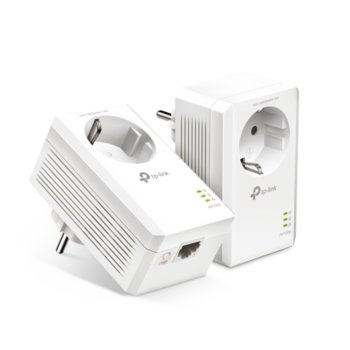 Powerline адаптер TP-Link TL-PA7017P, 1000 Mbps, до 300м обхват, 1x 10/100/1000 Mbps Ethernet image