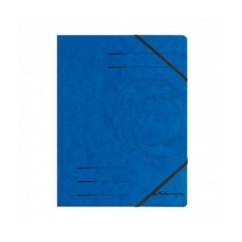 Папка Herlitz Easy Orga, за документи, изработена от картон, с три капака и ластик, размер 250х340мм, синя image