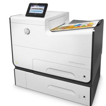 Мастиленоструен принтер HP PageWide Enterprise Color 556xh, цветен, 1200x1200 dpi, 50 стр/мин, двустранен печат, Wi-Fi, LAN, USB, A4 image