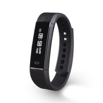 "Смарт часовник Hama Fit Track 1900, 0.86"" (2.18 cm) OLED дисплей, Bluetooth, водоустойчив IP65, педометър, черен image"