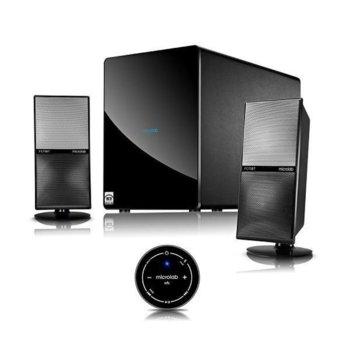 Тонколони Microlab FC70 BT, 2.1, 105W RMS (25 Watt x 2 + 55Watt RMS), Bluetooth, 2RCA, черни  image