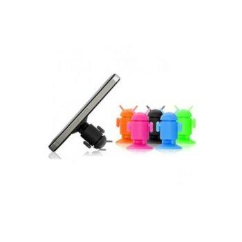 Силиконова стойка за телефон DeTech DF17243, универсална, различни цветове image