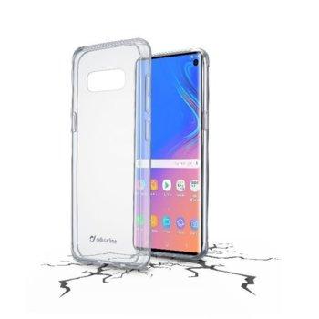 Калъф за Samsung Galaxy S10, Cellular Line ClearDuo, твърдо тяло с гумена рамка, прозрачен image
