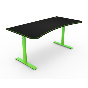Компютърно бюро Arozzi, Arena Green, текстилно покритие, черно/зелено image