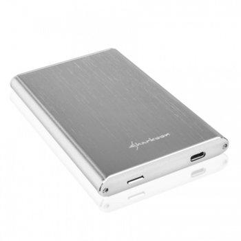 "Кутия за Харддиск SHARKOON Rapid-Case SH0052, 2.5"", Type C USB3.1, SATA, сребриста image"