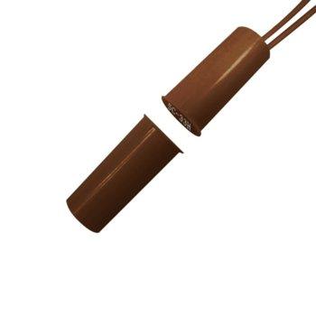 Магнитен датчик (мук) цилиндричен за вграждане, ABS материал, кафяв image