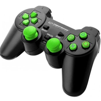 Геймпад Esperanza Corsair (EG106RR), за PC/PS2/PS3, USB, зелен image