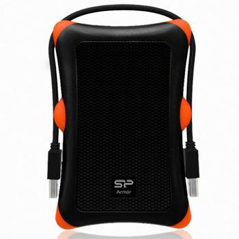 "Твърд диск 1TB Silicon Power Armor A30, черен, външен, 2.5""(6.35 cm), удароустойчив, USB3.0, 3г. гаранция image"