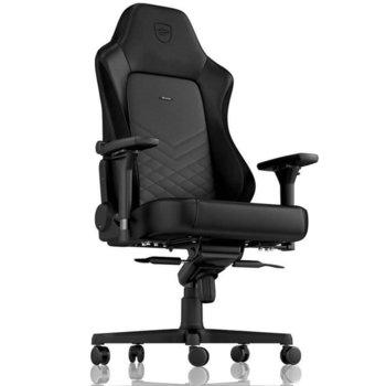 Геймърски стол noblechairs HERO (NBL-HRO-PU-BLA), изкуствена кожа, до 150кг макс. тегло, черен image