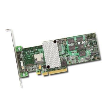 RAID Контролер LSI MegaRAID SAS 9271-4i, PCI-E 3.0 към Mini-SAS (SFF8087), SATA/SAS 6Gb/s, 1 портов, 1GB RAM, поддържа RAID 0, 1, 5, 6, 10, 50, and 60 image