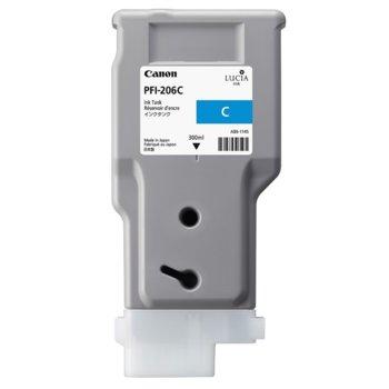 Глава за Canon iPF6400, iPF6450 - PFI-206 - Cyan - P№ 5304B001 - 300ml image