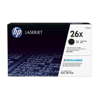КАСЕТА ЗА HP Color LaserJet Pro M402/MFP M426 series - /26A/ - Black - P№ CF226A - Заб.: 3100k image