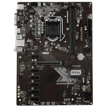 Дънна платка MSI H310-A PRO, H310, LGA1151, DDR4, PCI-E (HDMI & DVI), 4x SATA 6Gb/s, 1x USB 3.1 (Gen1), ATX image