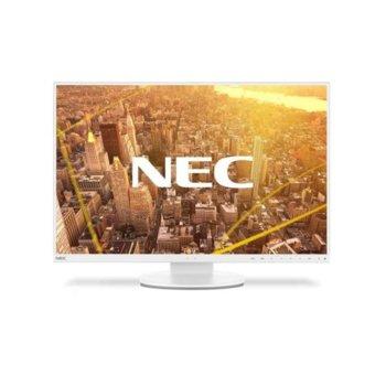 """Монитор NEC EA241WU White, 24"""" (60.96 cm) IPS панел, WUXGA, 5ms, 5000:1, 300 cd/m2, HDMI, Display Port, VGA, DVI-D, USB image"""