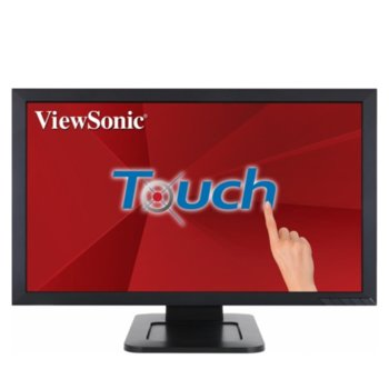"Монитор ViewSonic TD2421, 23.6"" (59.94 cm) Touch VA панел, Full HD, 5ms, 50M:1, 250 cd/m2, HDMI, DVI, VGA image"