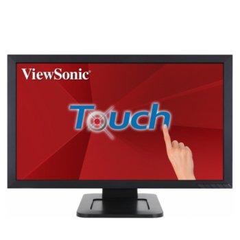 """Монитор ViewSonic TD2421, 23.6"""" (59.94 cm) VA Touchscreen панел, Full HD, 5ms, 50M:1, 250 cd/m2, HDMI, DVI, VGA image"""