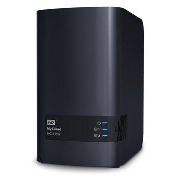 Мрежови диск (NAS) WD My Cloud EX2 Ultra, дву-ядрен Marvell ARMADA 385 1.3GHz, без твърд диск (2x SATA), 1GB RAM, Lan1000, 2x USB 3.0 image